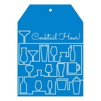 Cartão Cocktail azul