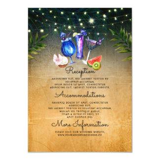 Cartão Cocktail da praia que Wedding o convidado da