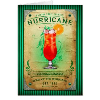 Cartão Cocktail do furacão da coleção de NOLA