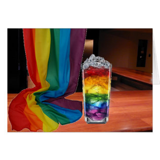 Cartão Cocktail do orgulho