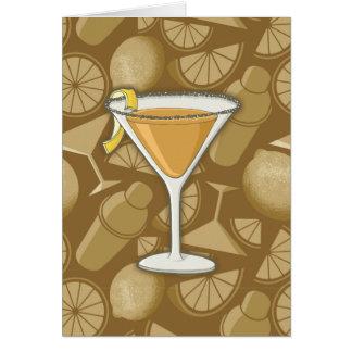 Cartão Cocktail do side-car