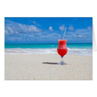 Cartão Cocktail pelo mar
