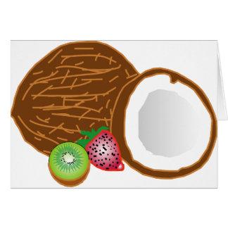 Cartão Cocos tropicais do quivi
