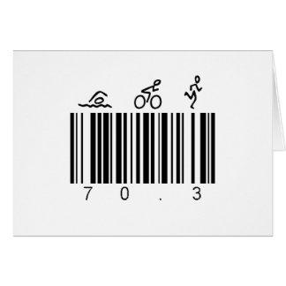 Cartão Código de barras 70,3