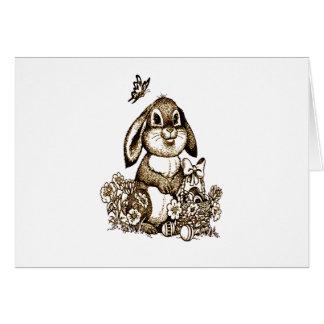 Cartão Coelhinho da Páscoa