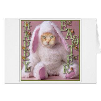 Cartão Coelhinho da Páscoa Claude do gato