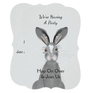Cartão Coelho de coelho animal Peronalized da floresta