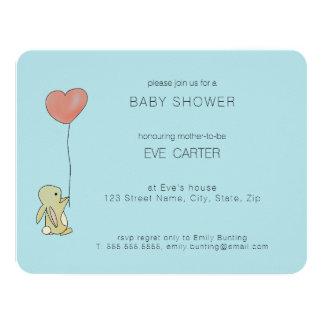 Cartão Coelho de Roo - balão do coração