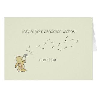 Cartão Coelho de Roo - desejos do dente-de-leão