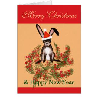 Cartão Coelho do Natal