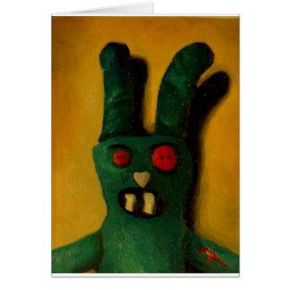 Cartão Coelho do zombi