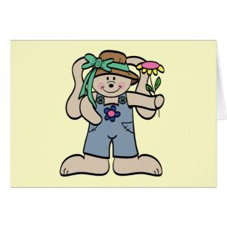 Cartão Coelho em t-shirt e em presentes da capota