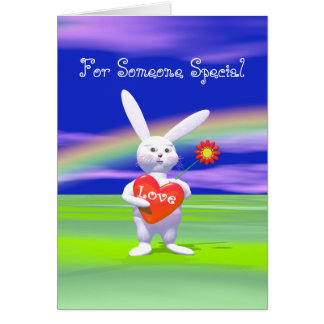 Cartão Coelho especial dos namorados