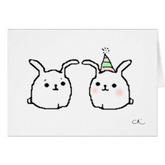 Cartão Coelhos do feliz aniversario