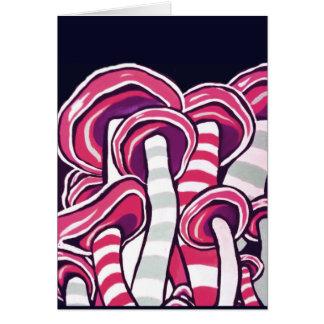 Cartão Cogumelos roxos Trippy do Hippie