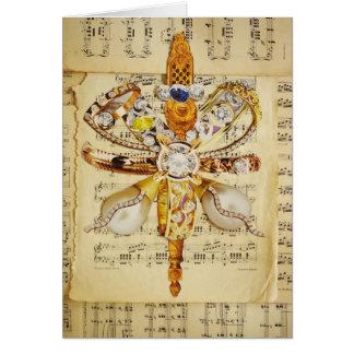 Cartão coisa da estrela do ouro do xmas