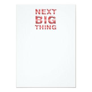 Cartão Coisa grande seguinte do T