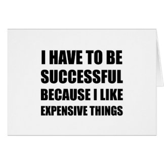 Cartão Coisas caras bem sucedidas