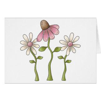 Cartão Coisas do primavera · Flores cor-de-rosa