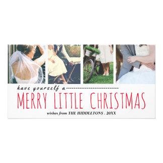 Cartão Colagem alegre da foto do roteiro quatro do Natal