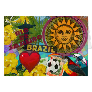 Cartão colagem América do viagem de Rio de Janeiro Brasil
