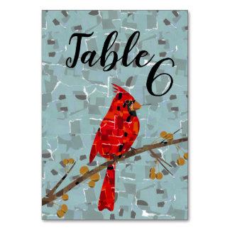 Cartão Colagem cardinal do pássaro do Natal