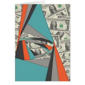 Cartão Colagem colorida da moeda
