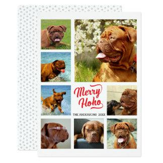 Cartão Colagem da foto do Natal 8 da feliz Ho Ho
