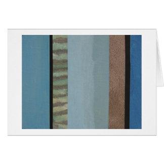 Cartão Colagem da listra de muitos azuis