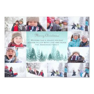 Cartão Colagem da paisagem do inverno de 12 fotos - Natal