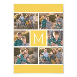 Cartão Colagem de 6 fotos com festa de aniversário
