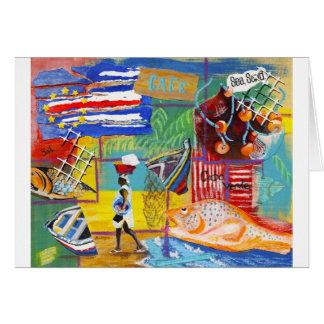 Cartão Colagem de Cabo Verde