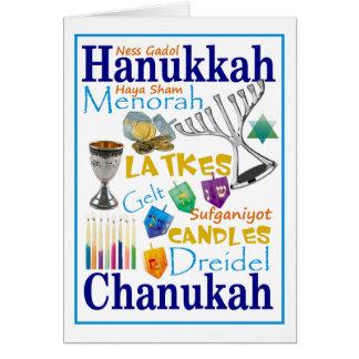 Cartão Colagem de Chanukah