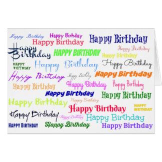 Cartão Colagem do feliz aniversario