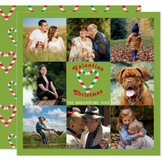 Cartão Colagem do Natal dos namorados do bastão de doces