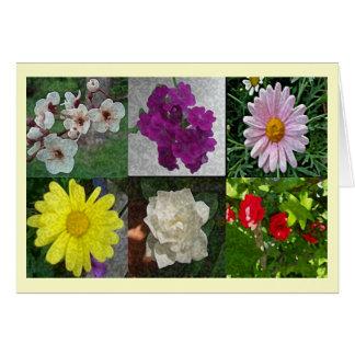 Cartão Colagem do primavera