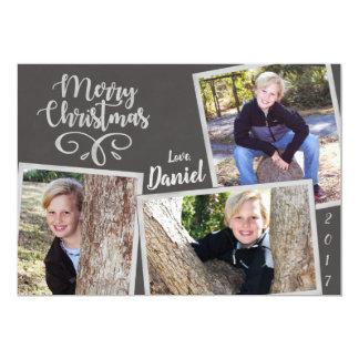 Cartão Colagem do quadro do Natal