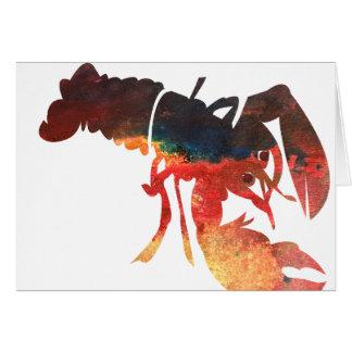 Cartão Colagem dos meios mistos da lagosta