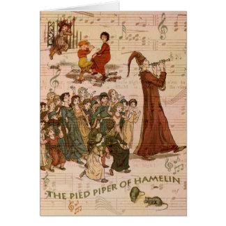 Cartão Colagem Pied do gaiteiro