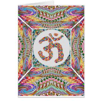 Cartão Coleção da jóia da mantra do OM