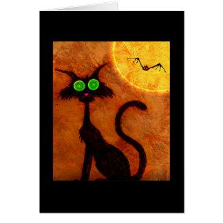 Cartão Coleção da meia-noite do gatinho