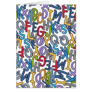 Cartão Coleção da sopa do alfabeto pelo design de Devora
