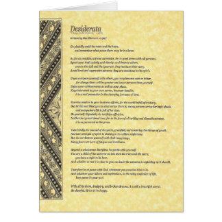 Cartão Coleção de Poem=Max Ehrmann=Parchment dos