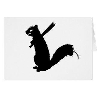 Cartão Coleção irritada do esquilo do zombi