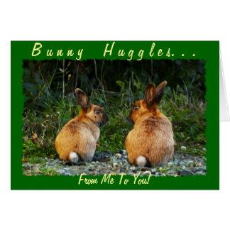 Cartão Coleção selvagem do coelho do AMOR do COELHO