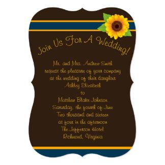 Cartão Coleção simples do girassol