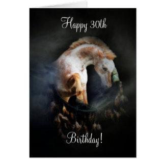 Cartão Coletor do sonho de nativo americano & cavalo 30o