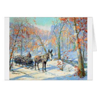 Cartão Colheita da queda do impressionismo |