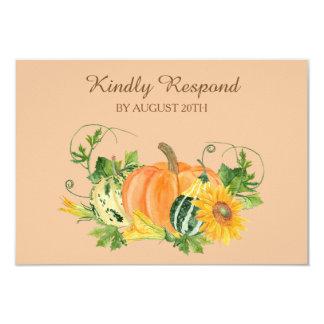 Cartão Colheita do outono que Wedding RSVP