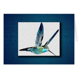 Cartão Colibri azul